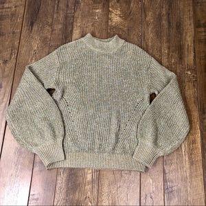 NWT H&M Green Gold Metallic Sweater Size Small